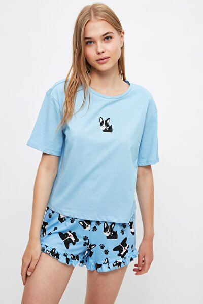 Köpek Desenli Örme Pijama Takımı THMSS21PT1461