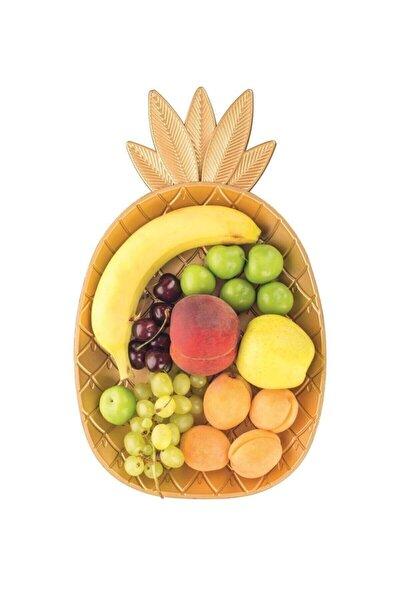 Ananas Desenli Dekoratif Sunum Tepsisi