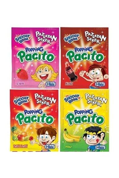 Shoogy Boom Paçito Şeker 4 Çeşit Karışık Kutu = 40 Adet Popios