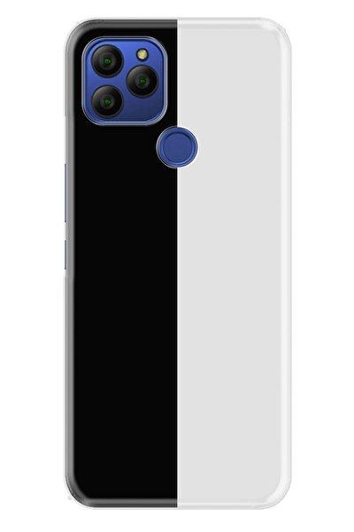 Gm 21 Uyumlu  Pure Modern Desenli Silikon Kapak Siyah Beyaz Feda