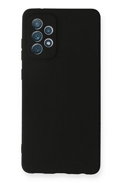 Galaxy A72 Kılıf Soft Yüzeyli Yıkanabilir Silikon Arka Kapak - Siyah