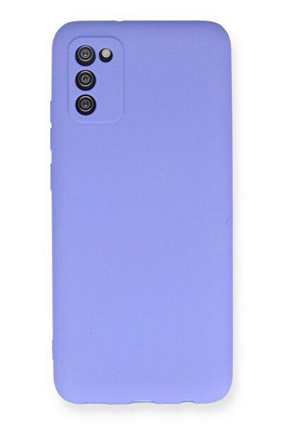 Galaxy A02s Kılıf Soft Yüzeyli Yıkanabilir Silikon Arka Kapak - Lila