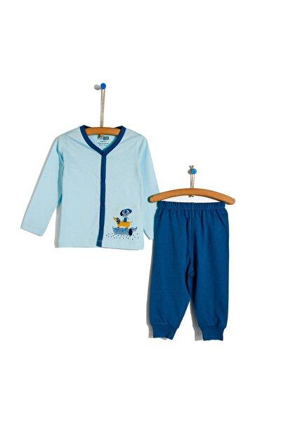 Basic Erkek Bebek Baharlık Çıtçıtlı Pijama Takımı