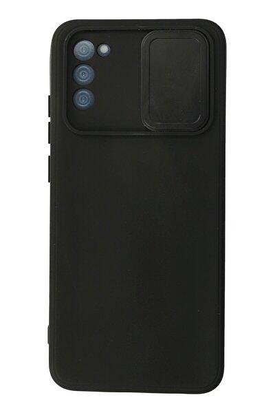 Galaxy A02s Kılıf Color Lens Silikon Grm - Siyah