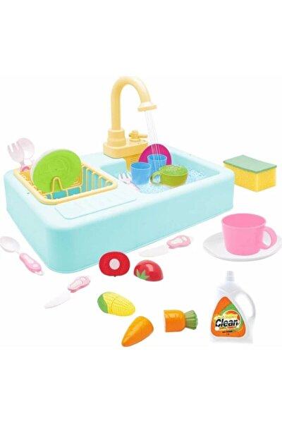 Lavabo Seti Pilli Mutfak Oyuncak Modern Çeşmeli Oyuncak Seti