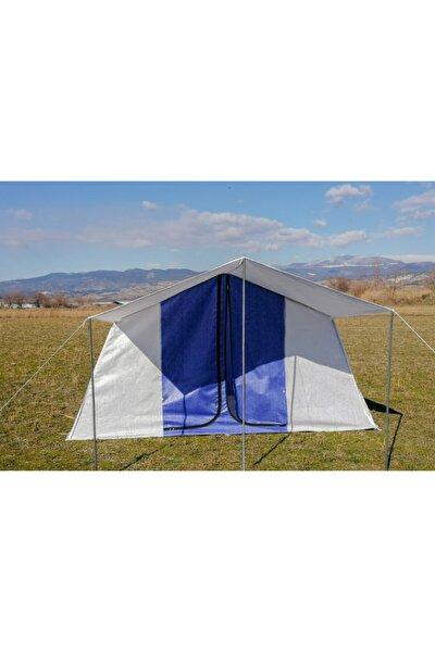 Aile Tipi 2 Odalı 6 Kişilik Kamp Çadırı Mavi Kırmızı Asorti Renk