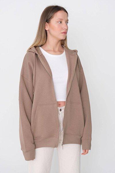 Kadın Kahverengi Sweatshirt H9520 - H11