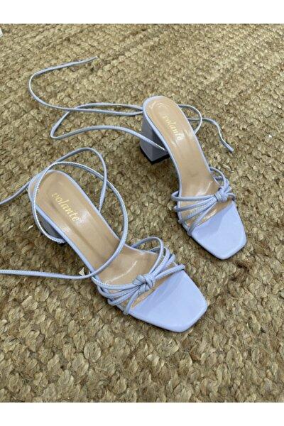 Mavi Kadın Topuklu Ayakkabı