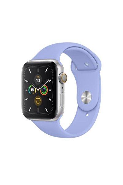 Apple Watch Kordon 2 3 4 5 6 Se Seri 38 Mm Ve 40 Mm Silikon Kordon Kayış - Lila