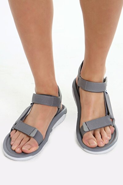 Fx Gri Erkek Cırtlı Trekking Sandalet
