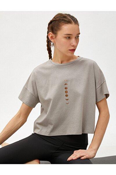 Kadın Baskilli Tişört Pamuklu