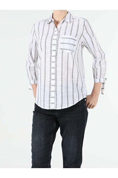KADIN Regular Fit Shirt Neck Kadın Uzun Kol Gömlek CL1054440