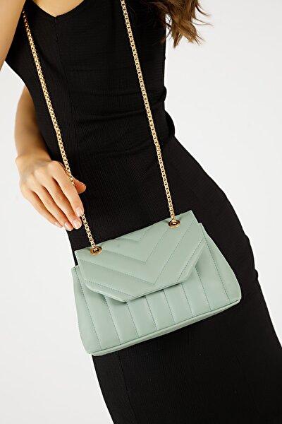 Kadın Mint Yeşili Nakışlı Mini Gissle Çanta