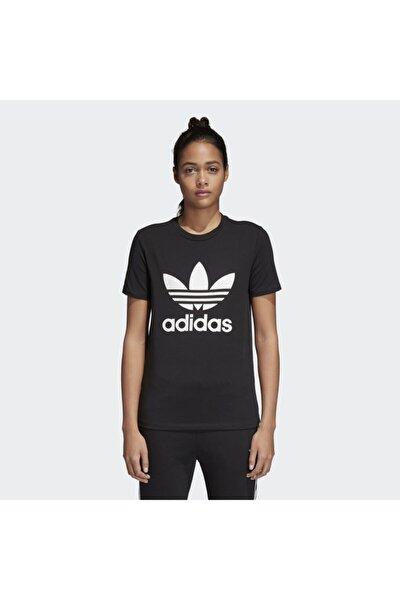 Kadın Siyah Originals T-shirt - Trefoil Tee - CV9888