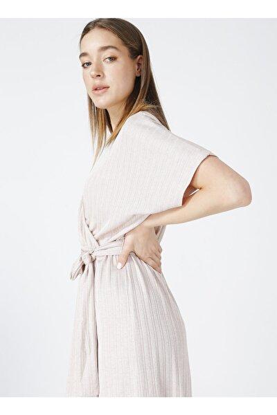 Kadın Bej Comfort Elbise
