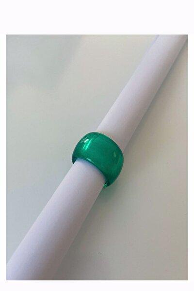 Yeşil Akrilik Reçine Yüzük
