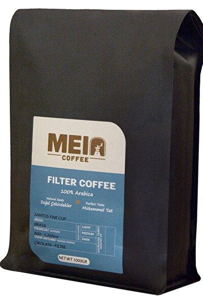 Öğütülmüş Filtre Kahve 1000gr - Brezilya Santos - French Press Makine Uyumlu