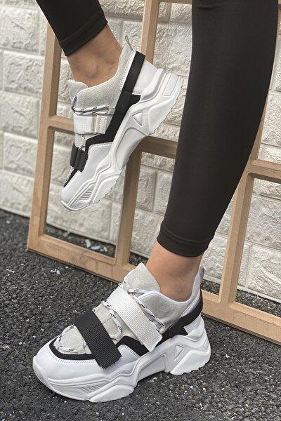 Kadın Beyaz&Gri Ayakkabı&Sneaker INASPORT10