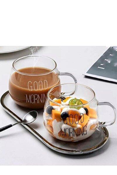 2 li Good Morning Günaydın 400 ml Borosilikat Cam Kupa