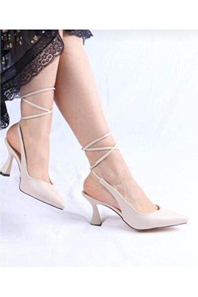 Kadın Bej Cilt Klasik Ayakkabı