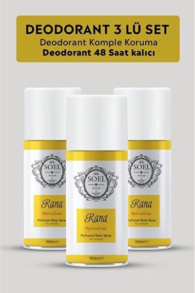Kadın Deodorant Sprey 3 Adet Afrodizyak Içerikli Rana 150 Ml