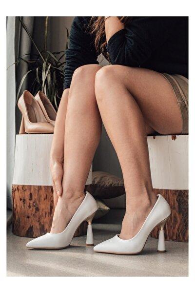 Beyaz (chicago) Büyük Numara Kadın Stiletto