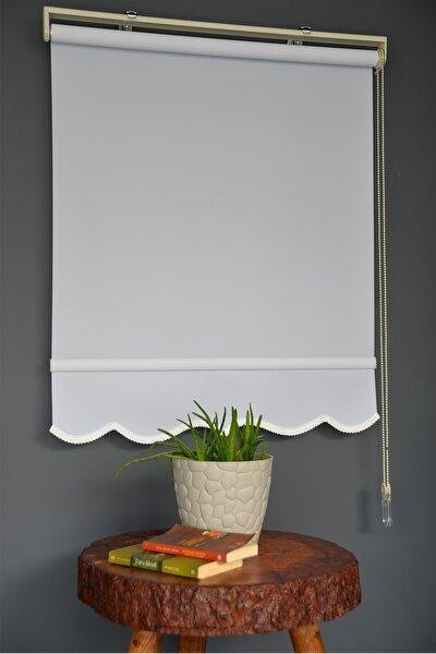 Beyaz Renk Etekli Veya Eteksiz Polyester Stor Perde