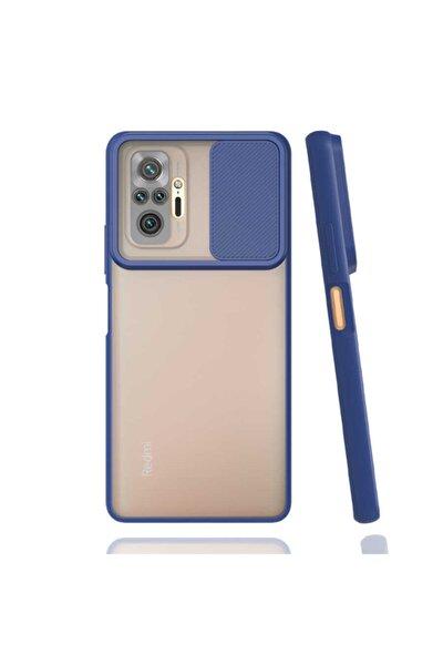 Coverstation Redmi Note 10 Pro Uyumlu  Slayt Kaydırmalı Kılıf Kamera Korumalı Renkli Silikon Kılıf