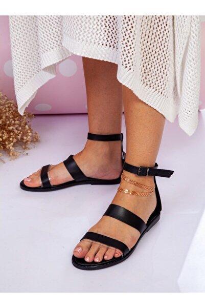 Sandalet Siyah Ayakkabı Havuzu
