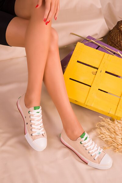 Bej Kadın Sneaker 16375