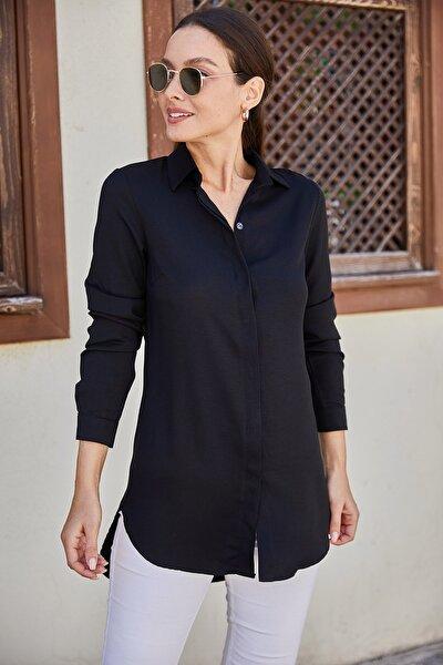 Kadın Siyah Tunik Gömlek ARM-19Y001003
