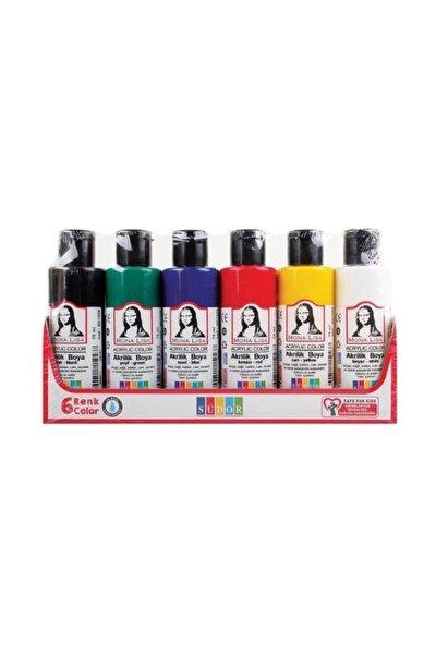Mona Lisa Akrilik Boya 6 Renk X 70 Ml Şişe