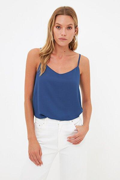 Lacivert Basic Bluz TWOSS19BB0224