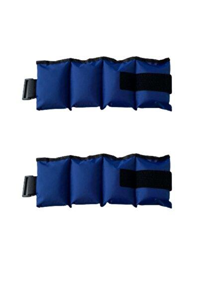 Mavi El Ve Ayak Bilek Ağırlığı 2x1 Kg Kum Ağırlık Kum Torbası 2x1kg