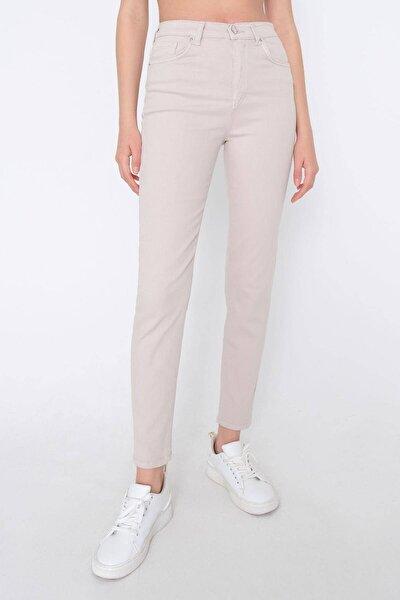 Kadın Taş Yüksek Bel Cep Detaylı Pantolon Pn4442 - Pnk Adx-0000023716
