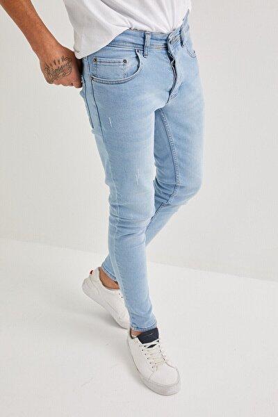 Erkek Jeans Skinny Fit Likralı