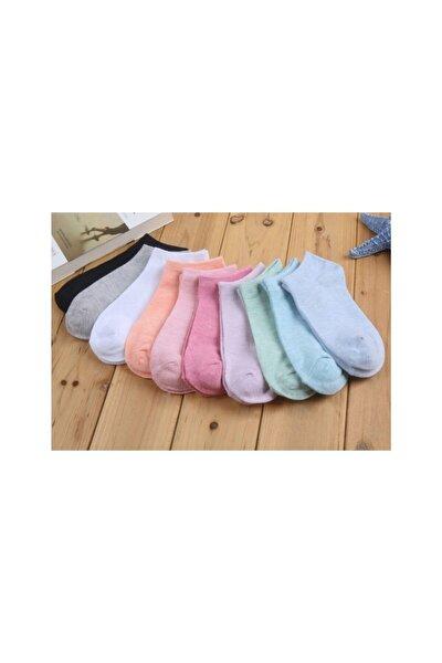 10 Çift Koton Karışık Renk Kadın Uzun Çorap Seti