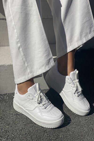 Kadın Beyaz Spor Ayakkabı Sneaker