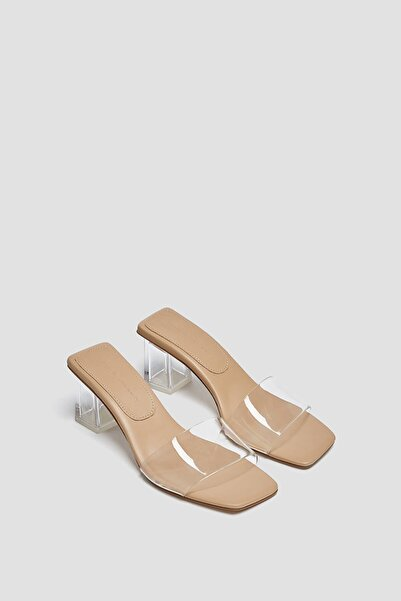 Vinil Topuklu Sandalet
