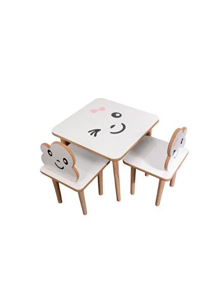 Ahşap Çocuk Masa Sandalye Takımı-çocuk Oyun Masası-aktivite Masası-çalışma Masası Pembe