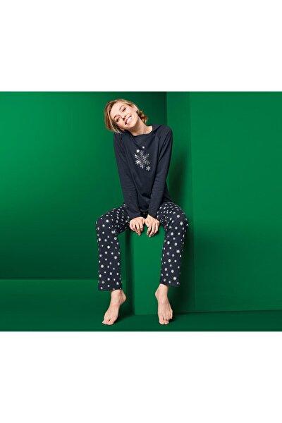 Lacivert Pijama
