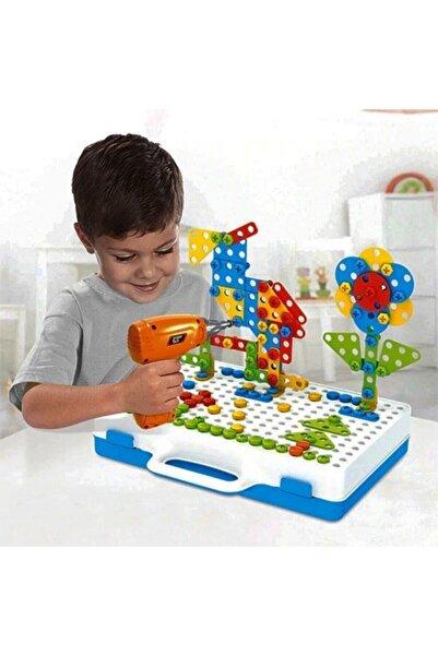 11b Matkaplı Vidalama Ve 3d Yaratıcı Mozaik Puzzle 198 Parça Creative Portable Box Yapı Lego Oyunu