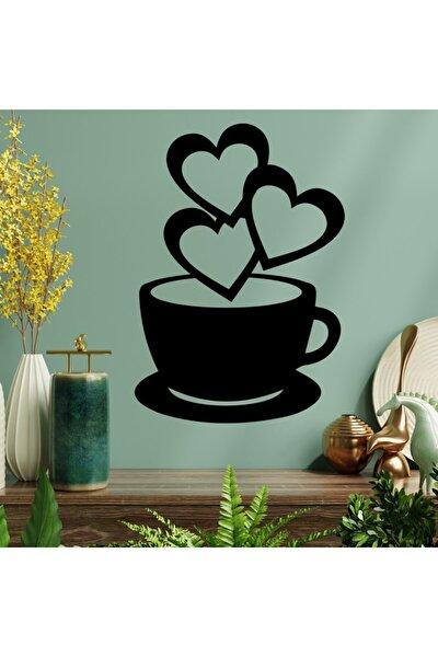 Kalpli Kahve Fincan Duvar Süsü - Duvar Dekoru ( 30*15 Cm )