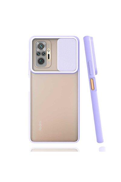 Coverstation Redmi Note 10 Pro Uyumlu Kılıf Slayt Kaydırmalı Kılıf Kamera Korumalı Renkli Kılıf