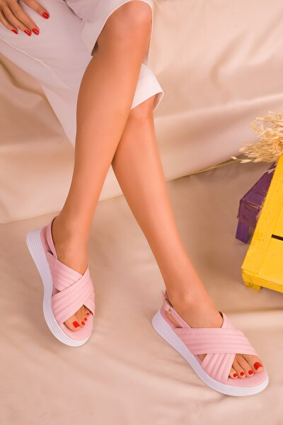 Pudra Kadın Sandalet 16208
