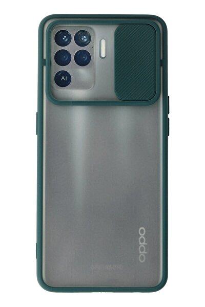 Reno 5 Lite Kılıf Palm Buzlu Kamera Sürgülü Silikon - Yeşil