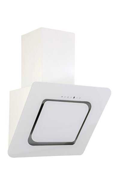D8 60 cm Beyaz Cam Ankastre Sessiz Davlumbaz