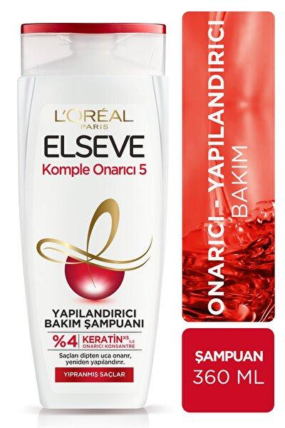 Komple Onarıcı 5 Yıpranmış Saçlar Için Keratinxs Içeren Yapılandırıcı Bakım Şampuanı 360 ml