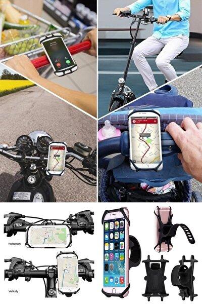 360° Dönebilen Bisiklet Scooter Motosiklet Gidon Telefon Tutucu