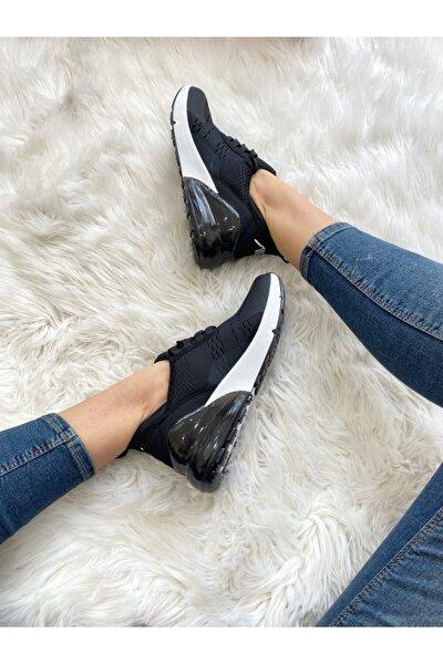Kadın Sıyah Beyaz Spor Ayakkabı